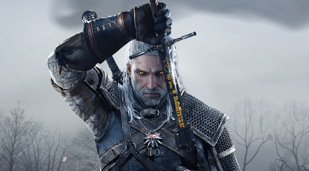 Póster promocional del videojuego The Witcher