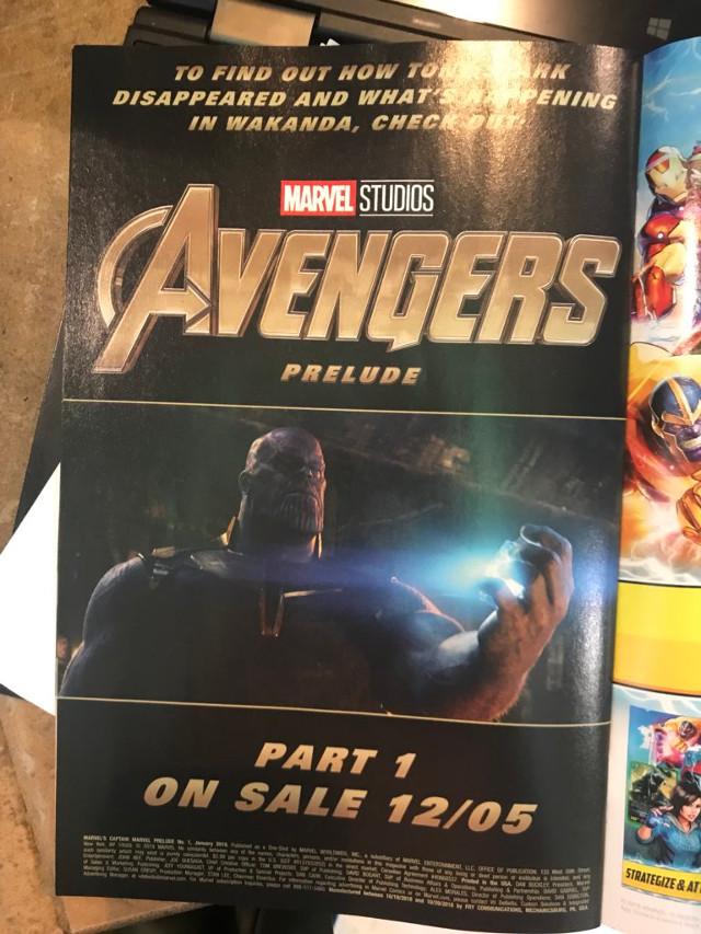 Anuncio de Avengers Prelude