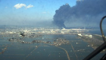 Sendai después del tsunami provocado por el Gran Terremoto Japones (U.S. Navy photo/Released)
