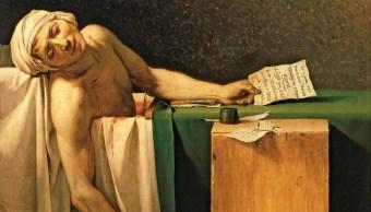 La muerte de Marat, de Jacques Louis David.