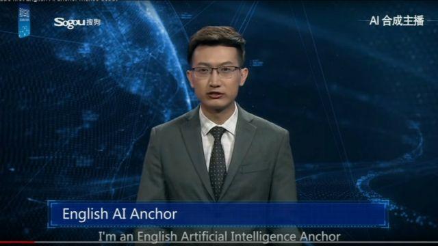 Un robot debutó en China como presentador de noticias