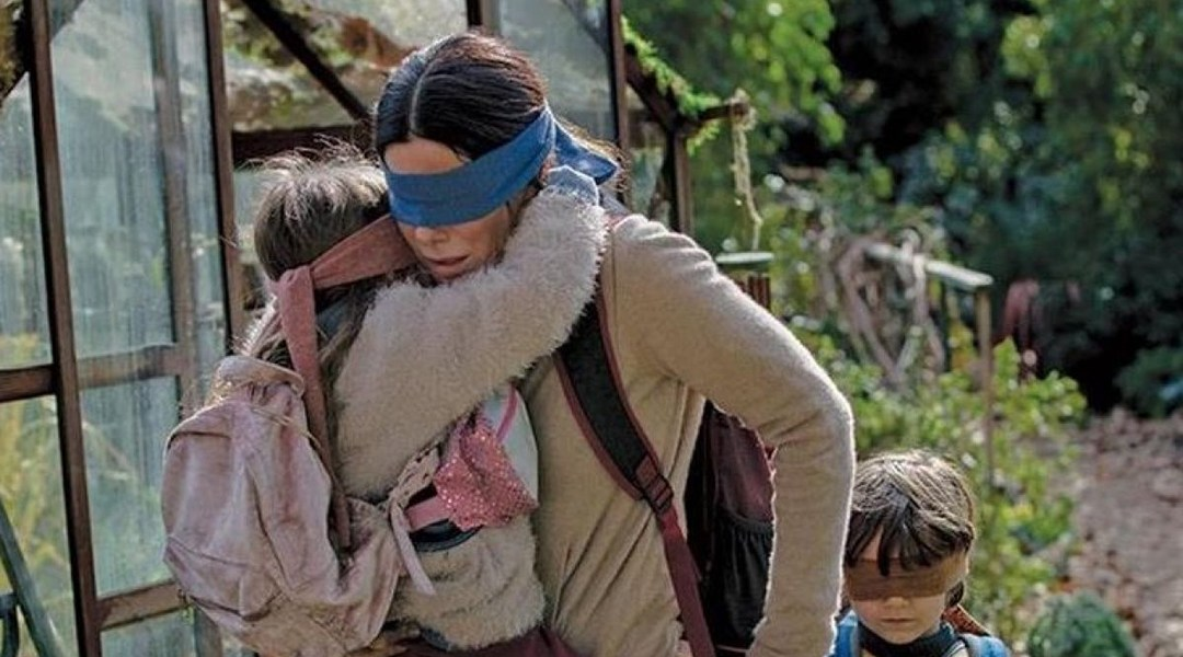 Bird Box, Sandra Bullock, A Ciegas, Netflix, Niño, Niña