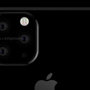 Imágen del nuevo iPhone con tres cámaras filtrado a la red (OnLeaks/DigitIndia)