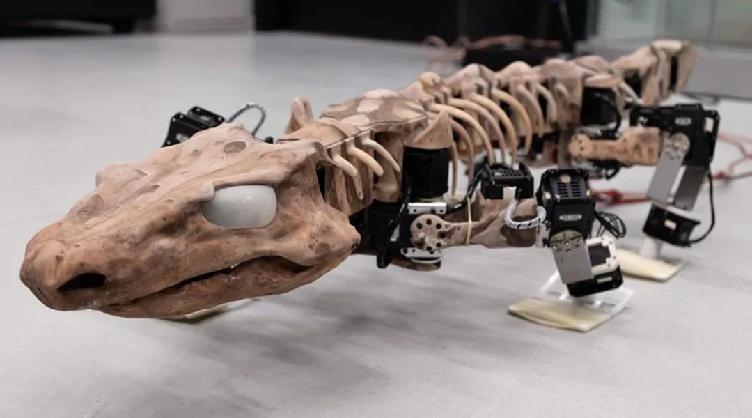 Imágen del tetrapod bot de dinosaurio