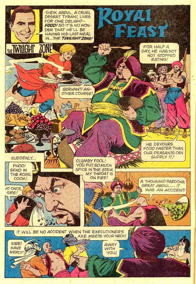 """Royal Feast"" publicada en Twilight Zone por Gold Key Comics"
