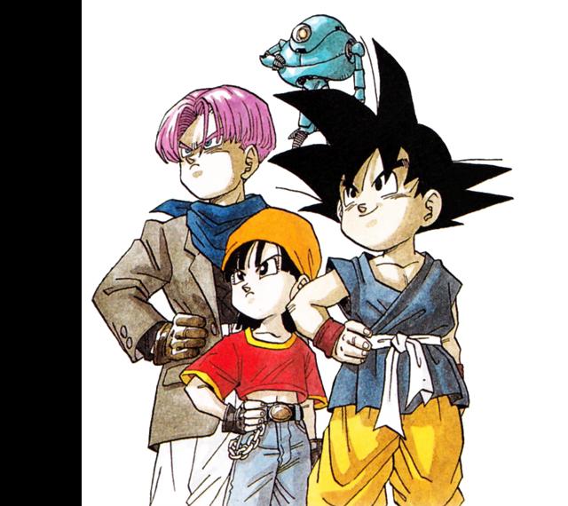 Dibujo original de Toriyama para Dragon Ball GT en los 90