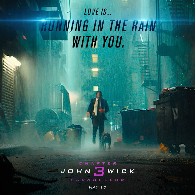 John Wick Parabellum Día del amor tarjeta