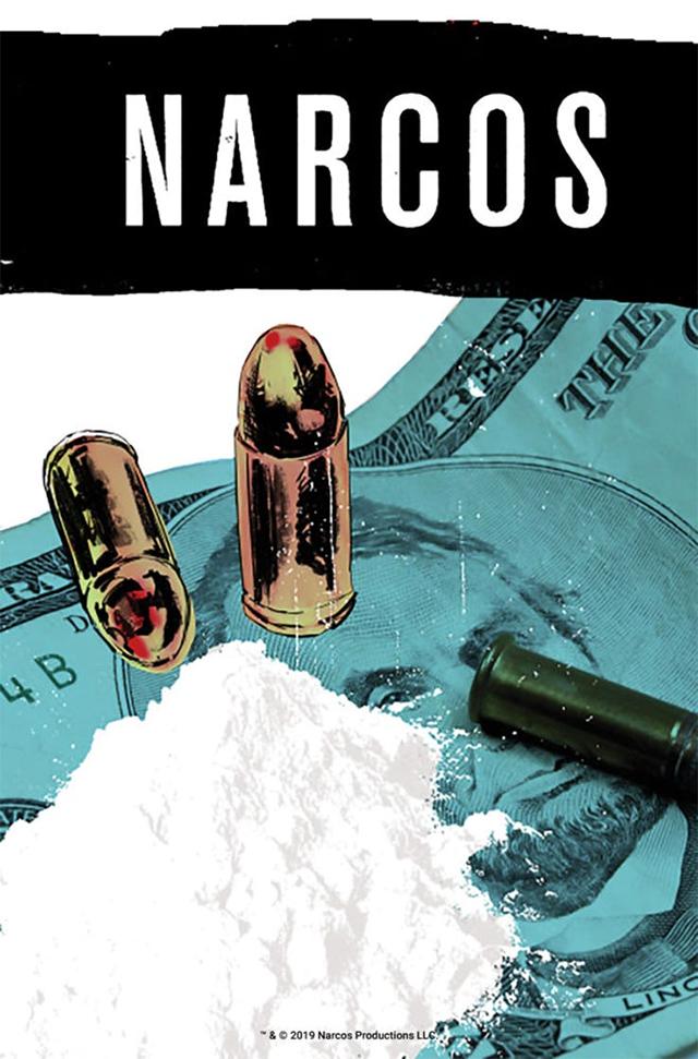 Primer imagen promocional del cómic Narcos