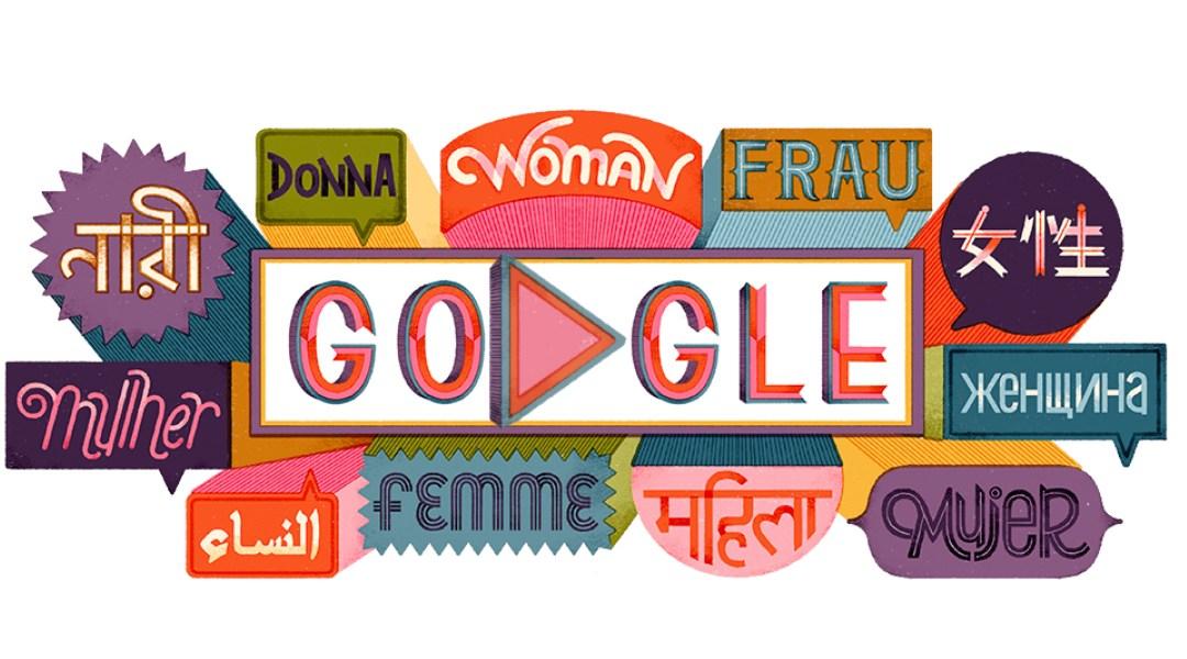 Doodle-Día Internacional de la Mujer-Google