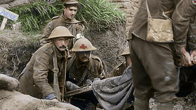 Una trinchera durante la Primera Guerra Mundial