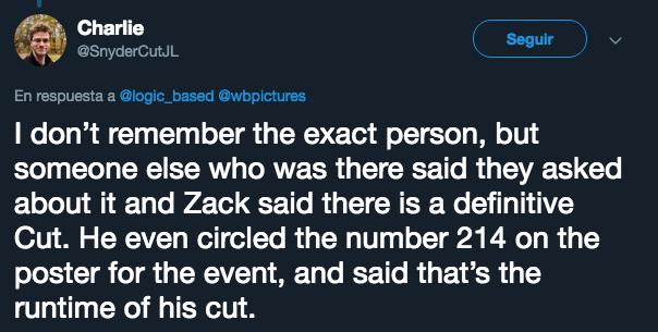 Zack Snyder, Justice League, Cut, Película