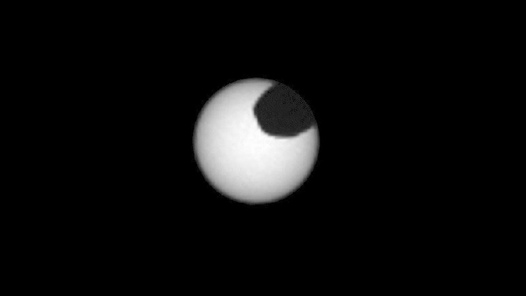 Desde Marte vemos Eclipse Curiosity NASA