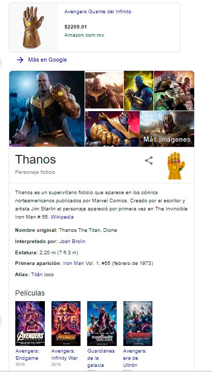 THanos Google easter egg