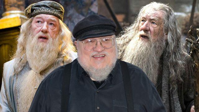 George R R Martin-Gandalf-Dumbledore
