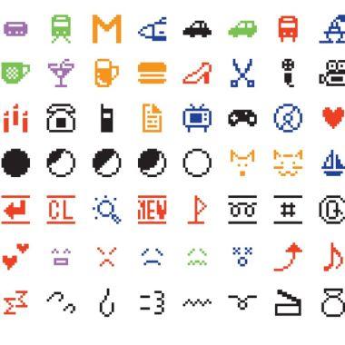 Emojis de colores de 1999 creados por Shigetaka Kurita
