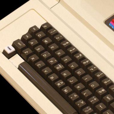 Cassette de Apple con logo de colores