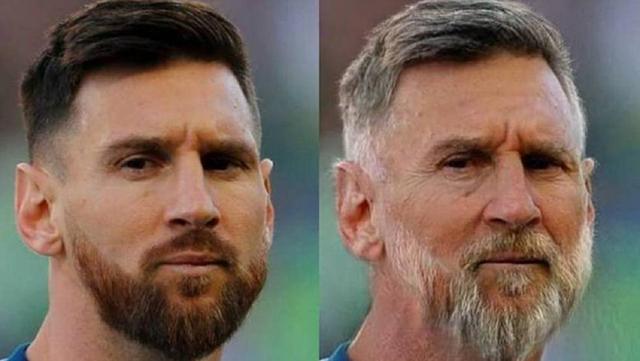 FaceApp Messi