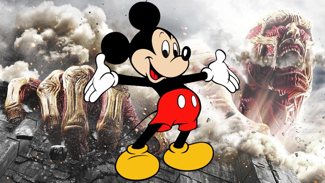 18/07/19 Mickey Mouse, Attack On Titan, Shingeki No Kyojin, Hajime Isayama