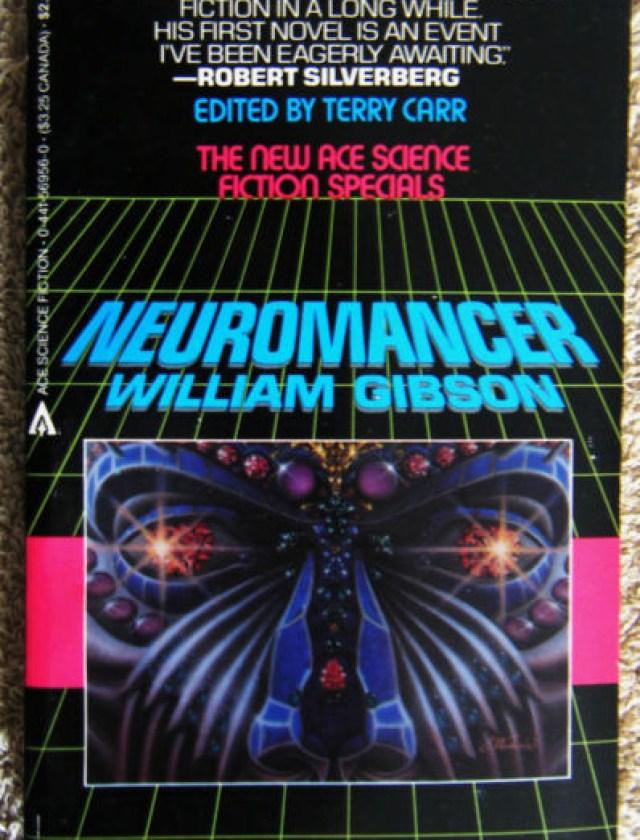 Portada de la novela Neuromancer de William Gibson