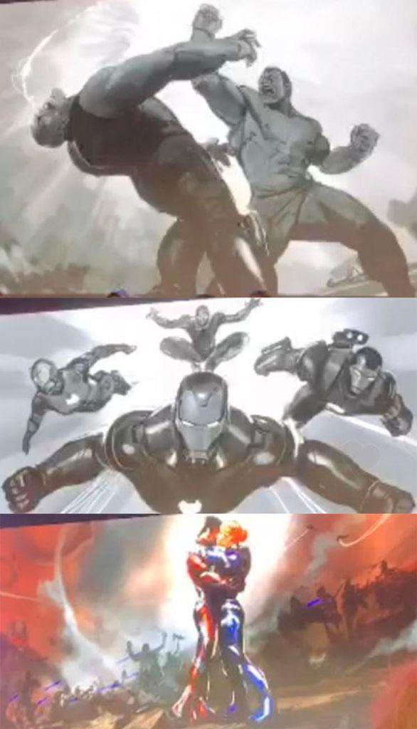 26/08/19 Avengers Endgame, Arte Conceptual, Hulk, Thanos