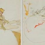 Bocetos hallados en Suiza de El Principito