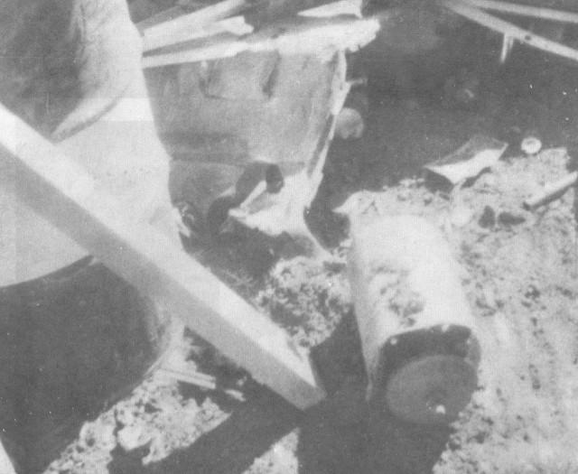El cilindro que contenía la fuente radiactiva.