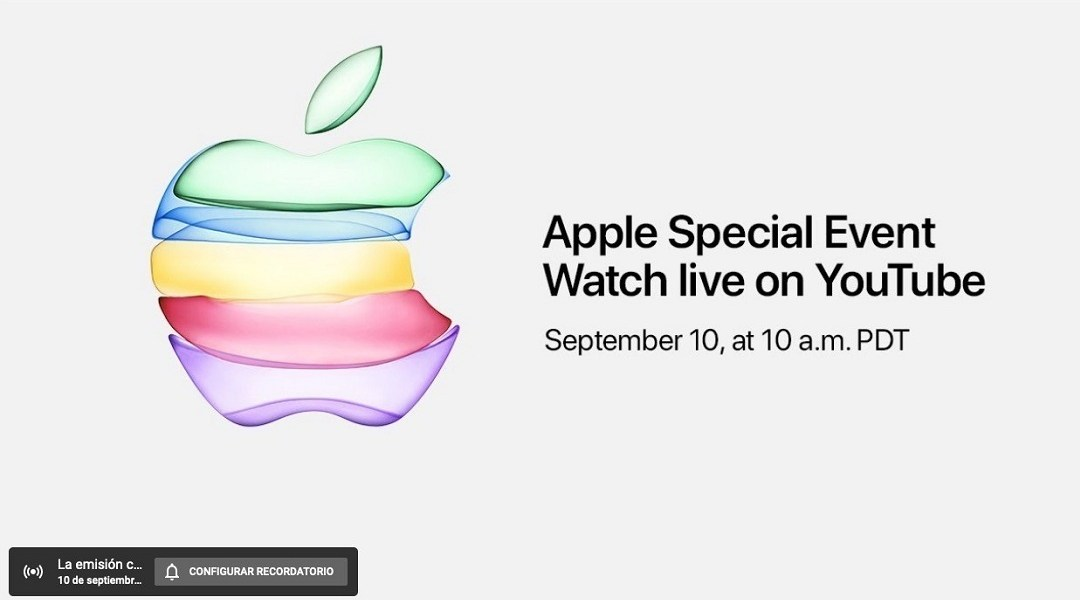 Apple Keynote en YouTube