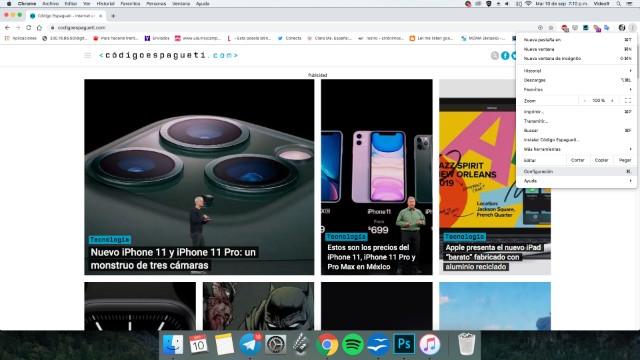 Captura de pantalla Código espagueti