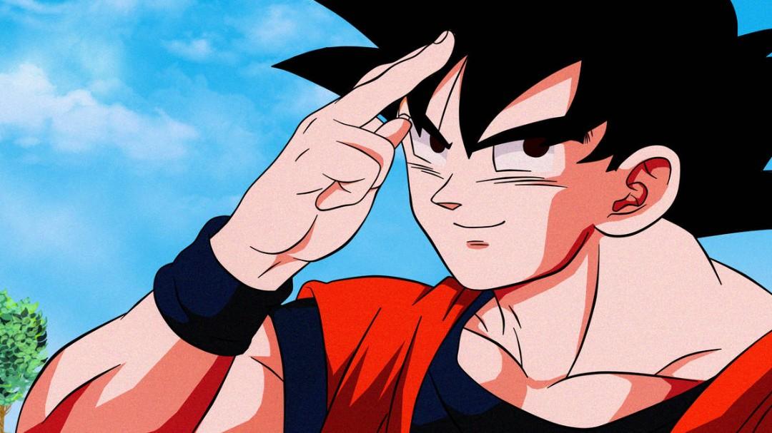 Gokú Dragon Ball Z despidiéndose