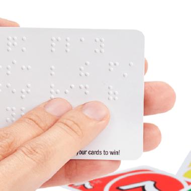 Versión juego de UNO braille