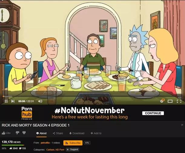 Rick and Morty en Pornhub