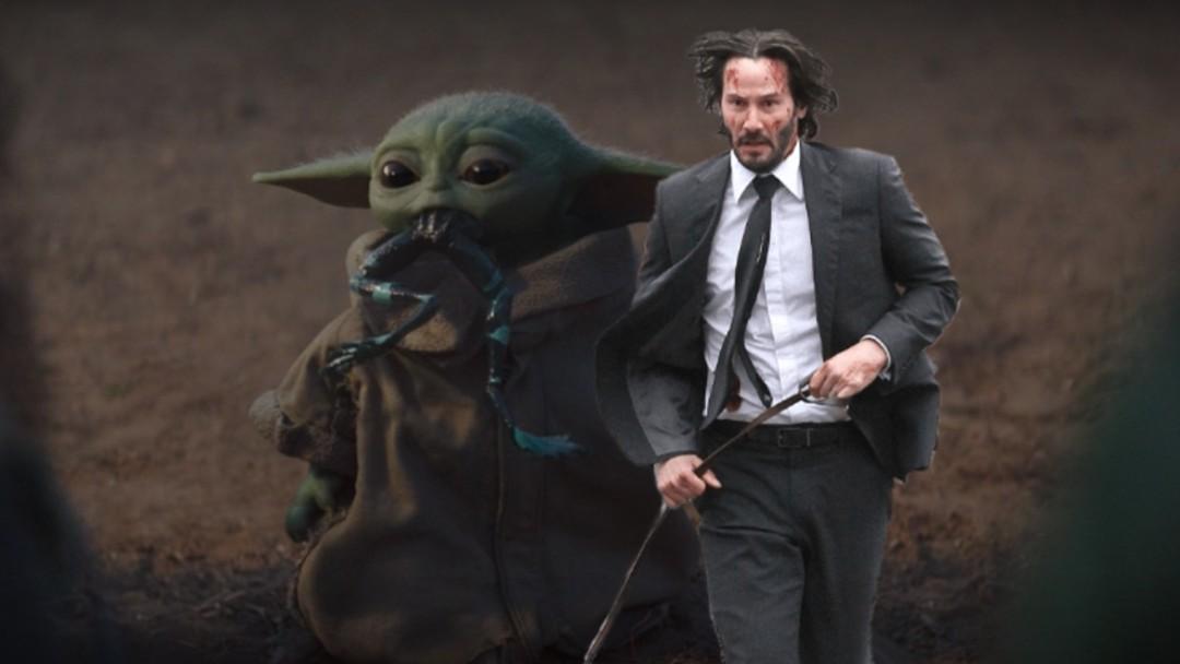 Fanart Baby Yoda John Wick
