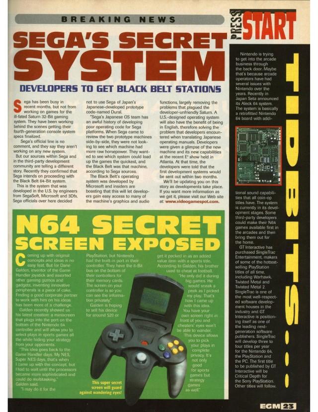 Secret Screen Nintendo 64 accesorio