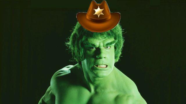 El increíble Hulk con sombrero de Sheriff