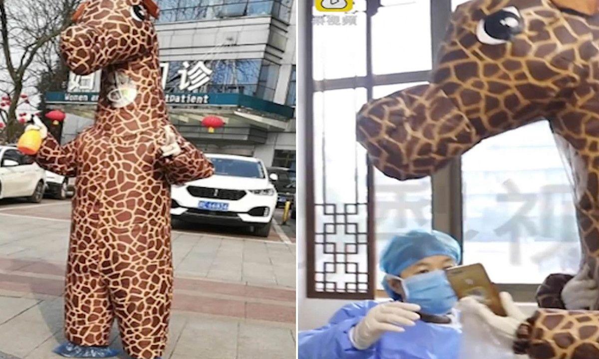 Mujer China Jirafa Coronavirus
