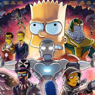 Los Simpson Avengers Endgame Poster (1)