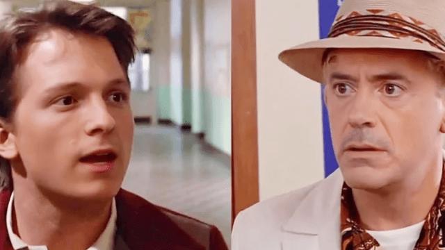 Robert Downey Jr. y Tom Holland deepfake