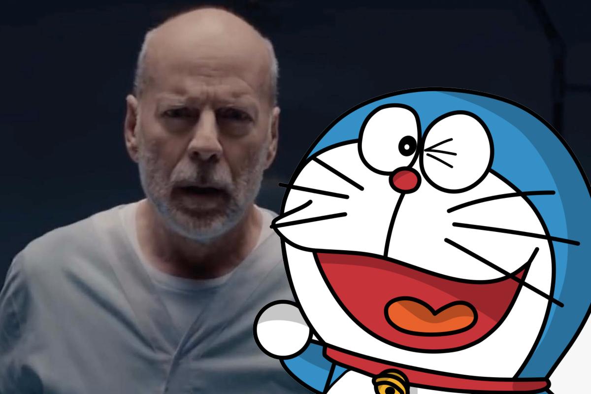 Bruce Willis y Doraemon