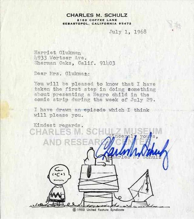Carta Harriet Glickman Peanuts