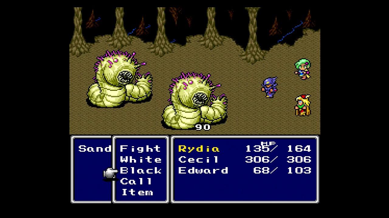 Imagen del juego de SNES Final Fantasy