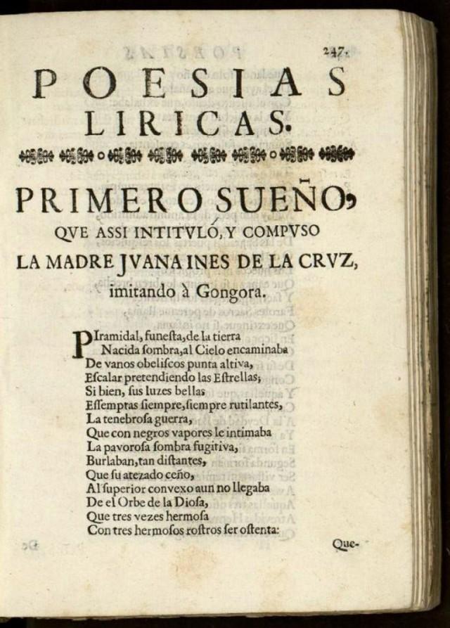 Primero Sueño Sor Juana