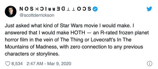 Scott-Derrickson-Star Wars-Película-Terror