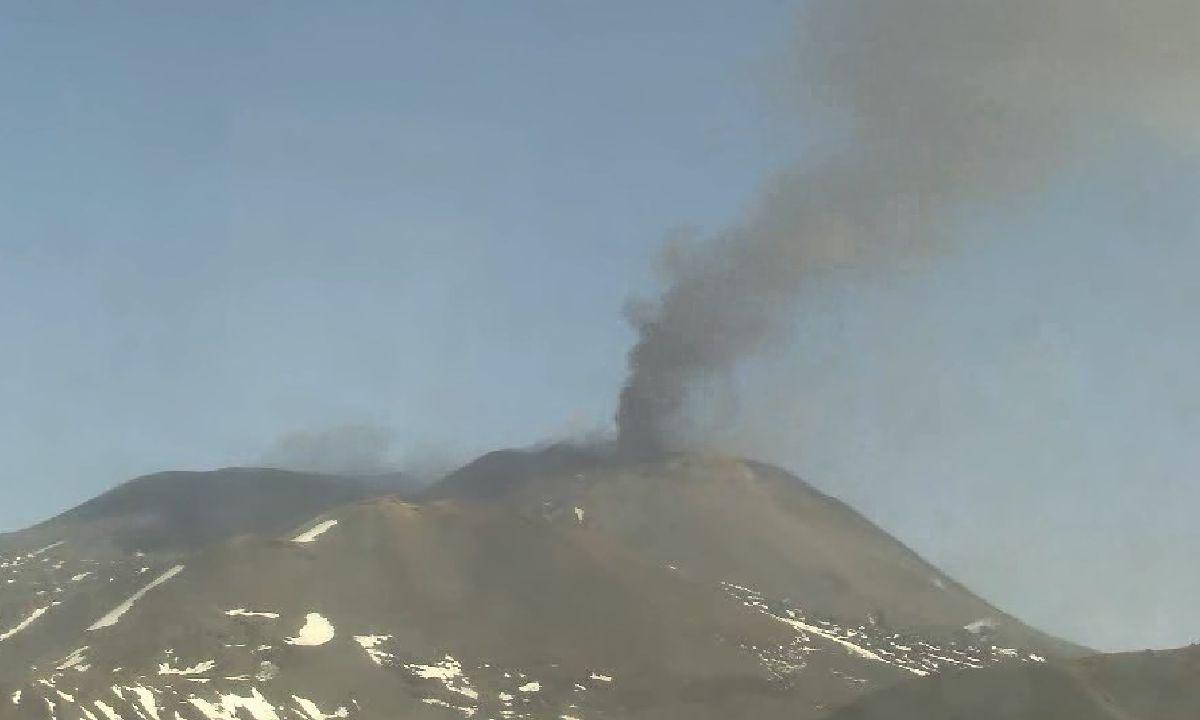 Erupción Etna Italia 2020