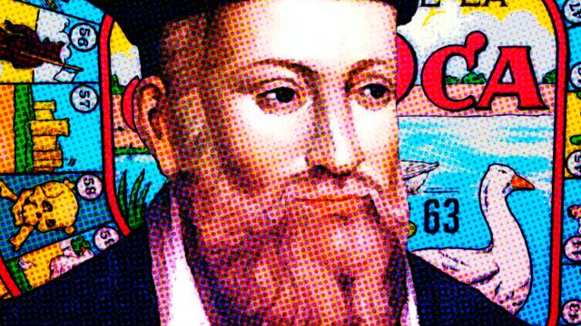 Nostradamus con el juego de la oca