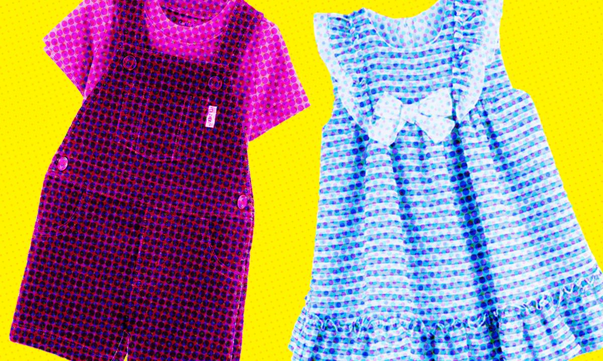 Ropa de niño rosa, ropa de niña azul