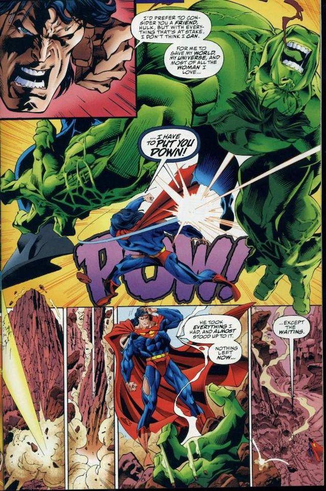 Página del cómic DC versus Marvel