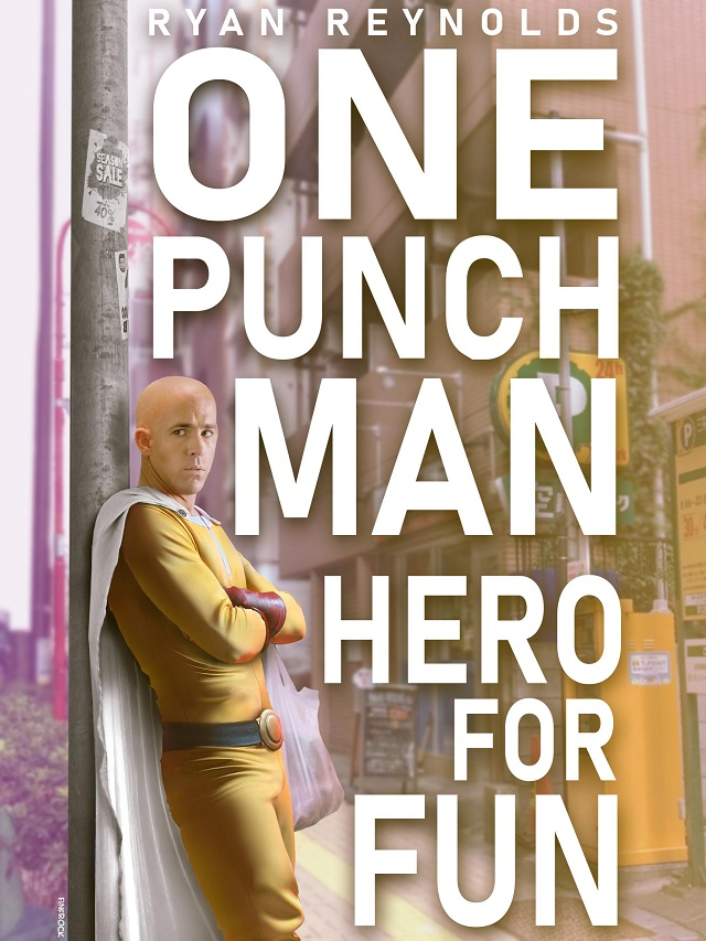 Fanart One Punch Man Ryan Reynolds
