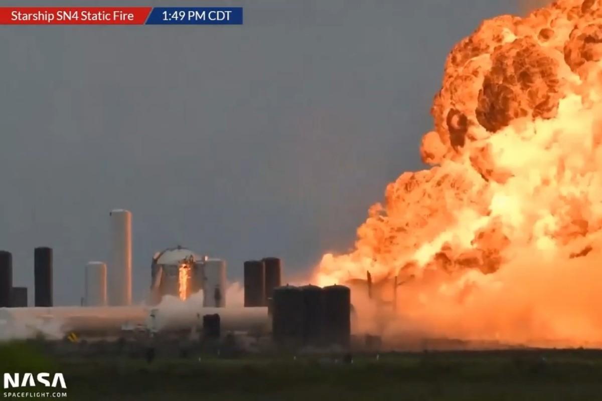 La Nave de SpaceX explota durante una prueba