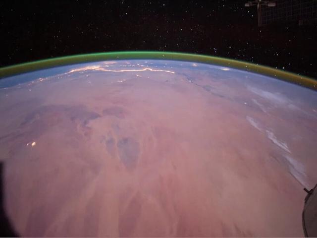 Airwglow Marte ESA Halo Verde