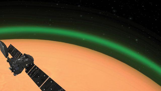 Marte Resplandor Verde Estación Espacial Internacional